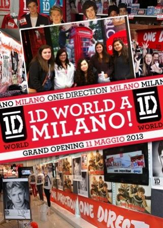 Apertura negozio 1D World Milano