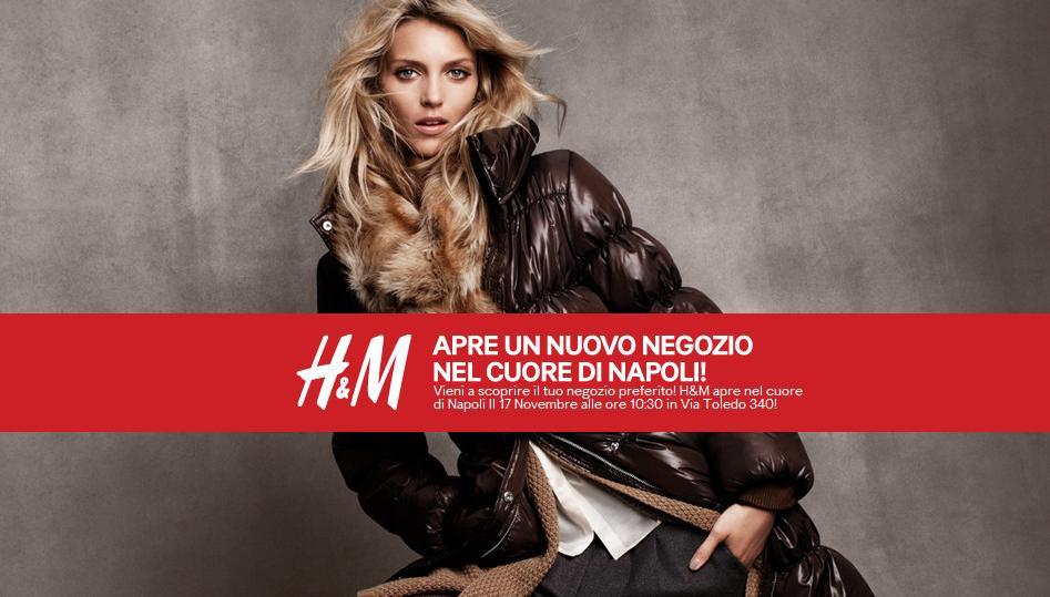 Apertura negozio H&M Napoli centro, via Toledo