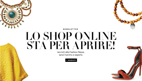Apertura shop online HM in Italia