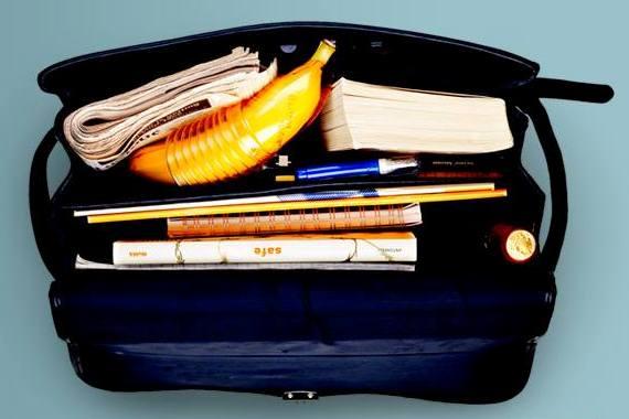Banana in borsa nella custodia