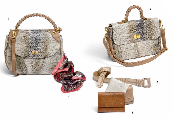 """Borsa Carpisa Dubai """"effetto sabbia"""" con inserti in cuoio, prezzo 45,90 e 49,90€"""