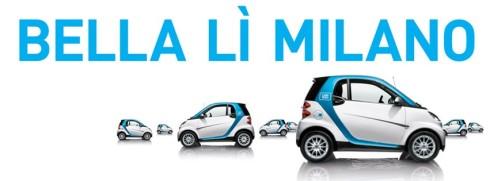 car2go a milano 450 smart bianche e blu in car sharing con app. Black Bedroom Furniture Sets. Home Design Ideas