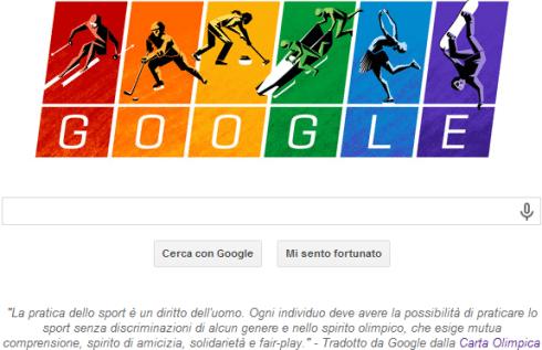 Carta Olimpica su Google per Sochi 2014