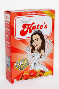 Cereali Kate Middleton, gadget e souvenir matrimonio reale