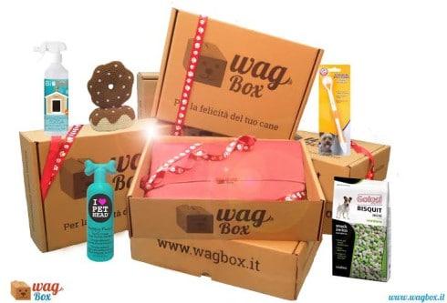 Contenuto scatola WagBox e prodotti per il cane
