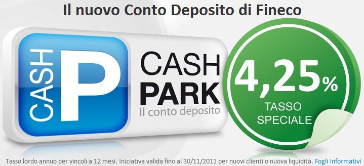 Conto Deposito Fineco Cash Park
