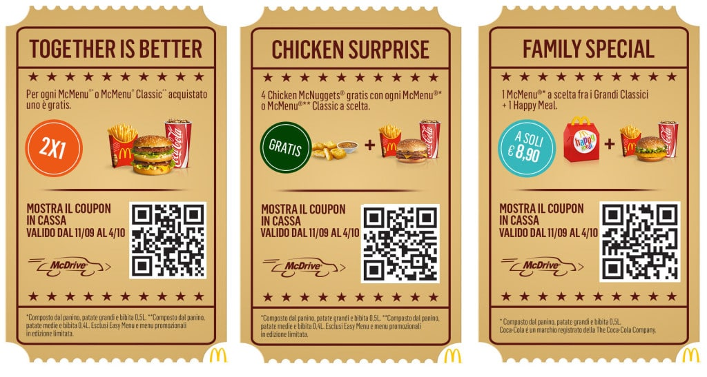 Coupon McDrive da stampare