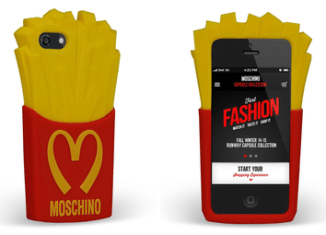 Cover iPhon Moschino con patatine McDonalds