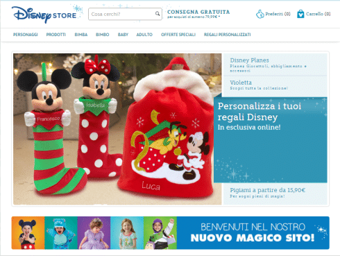 Sito Disney Store Online