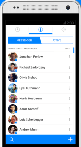 Facebook Messenger su smartphone