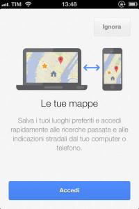 Sincronizzazione Google Maps