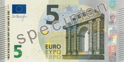 Fronte nuovi 5 euro
