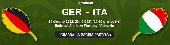 Germania Italia, semifinale Europei 2012