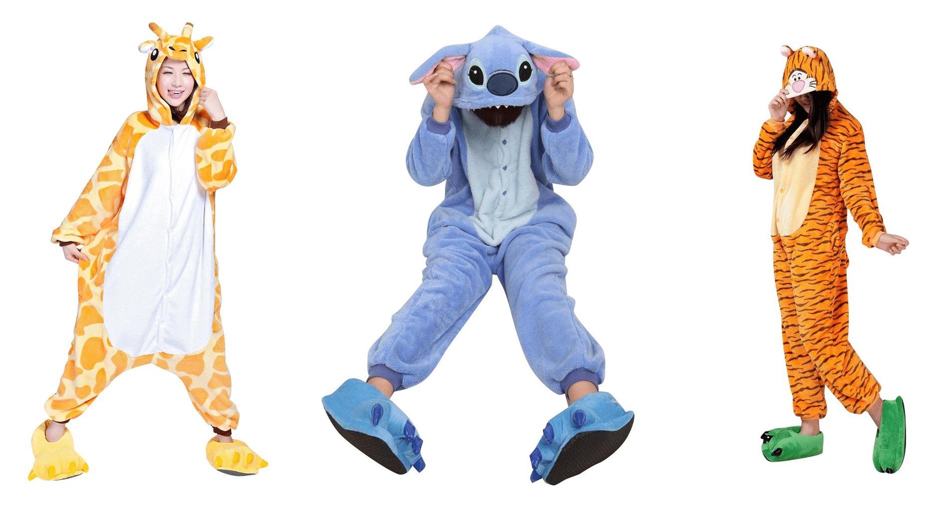 Pijamas giraffa Stitch e tigre