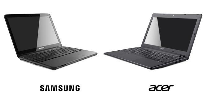 Google Chromebook Acer e Samsung Chromebook