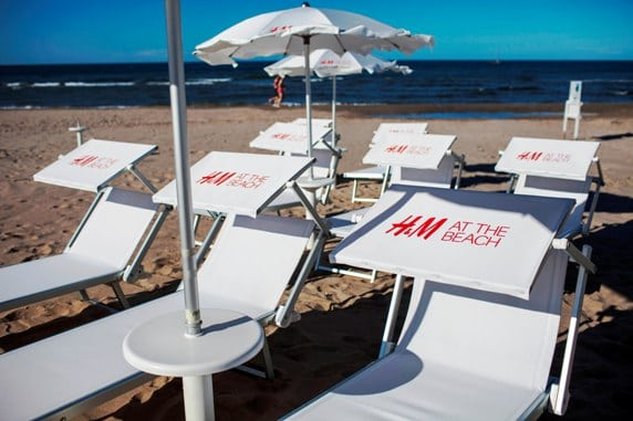 HM Riccione, spiaggia