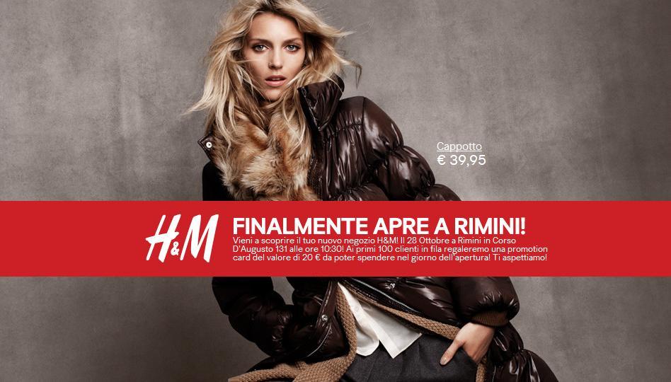H&M Rimini, apertura nuovo negozio HM
