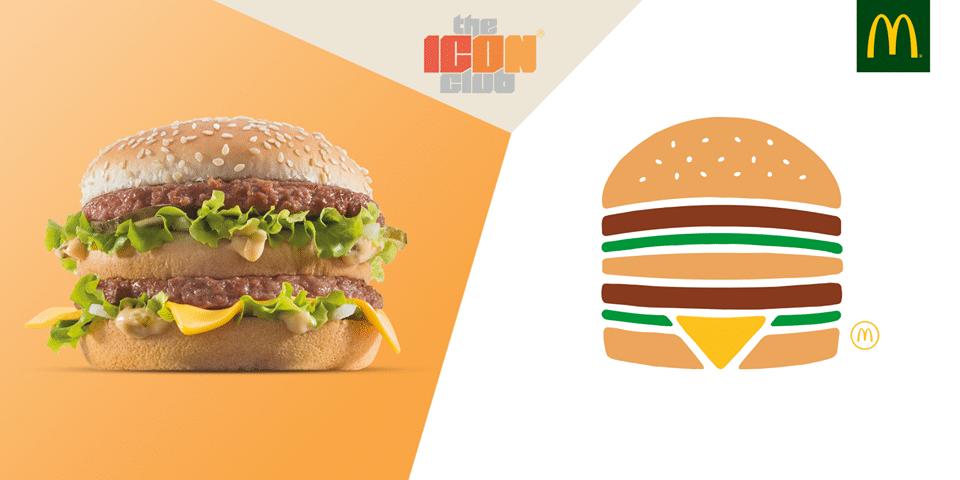 Icona Big Mac ccartelloni McDonald's