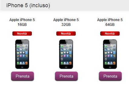 iPhone 5 Vodafone Relax, abbonamento