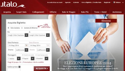 Sconto Italo Elezioni Europee 2014