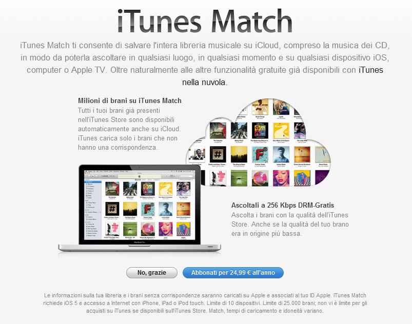 Cos'è iTunes Match e come funziona
