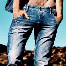 Jeans uomo vita bassa