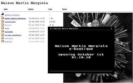 Maison Martin Margiela, negozio online MS Dos