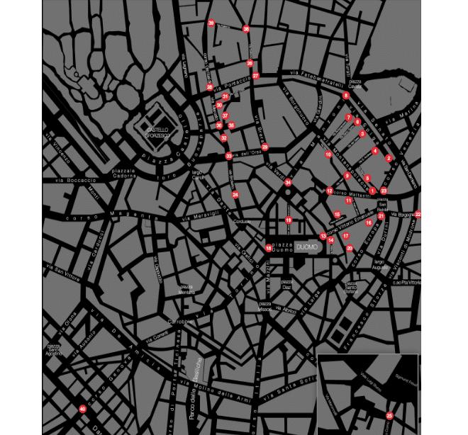 Mappa delle vie VFNO 2014 Milano