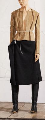 Margiela HM donna: giacca scamosciata e gonna