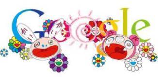 Google doodle Solstizio d'estate by Takashi Murakami