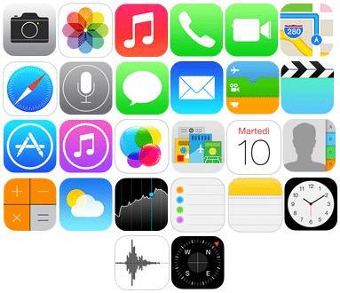Nuove icone iOS 7