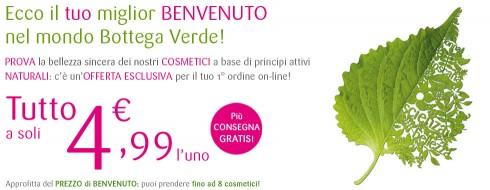 Offerta Benvenuto catalogo Bottega Verde