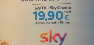 Offerta Sky TV e Sky Cinema a 19,90 euro a Milano