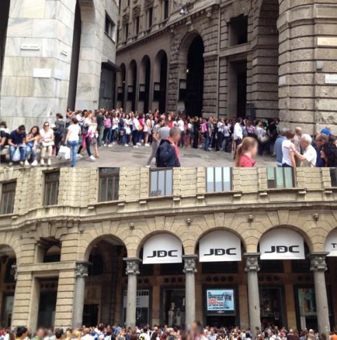 One Direction negozio JDC Milano