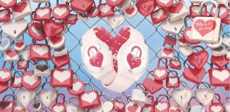 Orologio Swatch con cuore e lucchetto per San Valentino