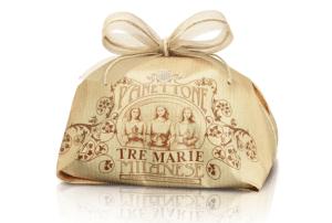 Panettone milanese Tre Marie incartato a mano