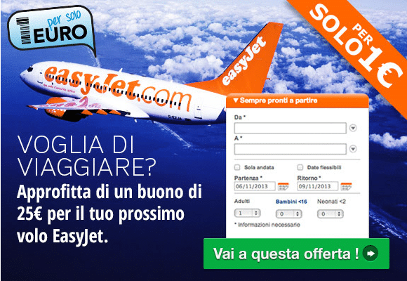 Per solo 1 euro easyJet