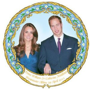 Piatto matrimonio William e Kate