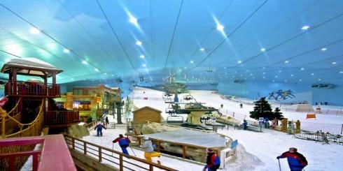 Pista da sci nel centro commerciale, Dubai