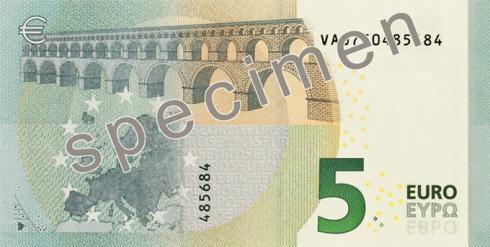 Retro nuovi 5 euro
