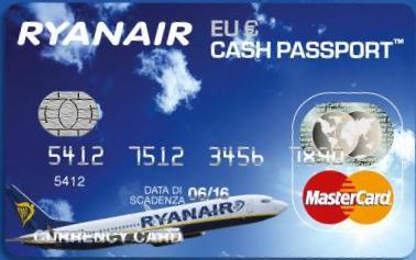 Carta Ryanair CashPassport Italia