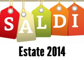 Scritta Saldi Estate 2014