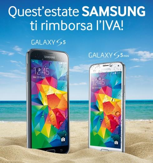 Samsung rimborso IVA su prezzo Galaxy S5 mini