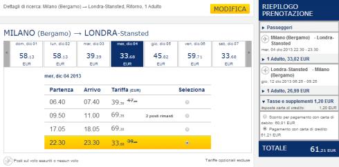 Selezione voli low cost Ryanair