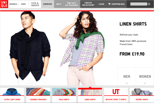 Shop online Uniqlo Italia