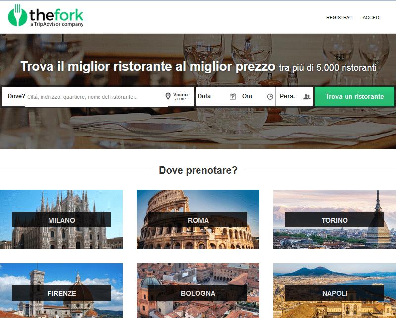 Sito TheFork Italia