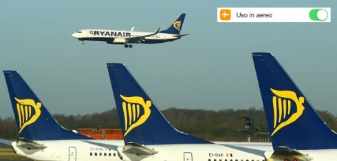 Modalità uso aereo Ryanair