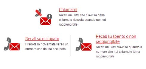 Vodafone Chiamami e Recall