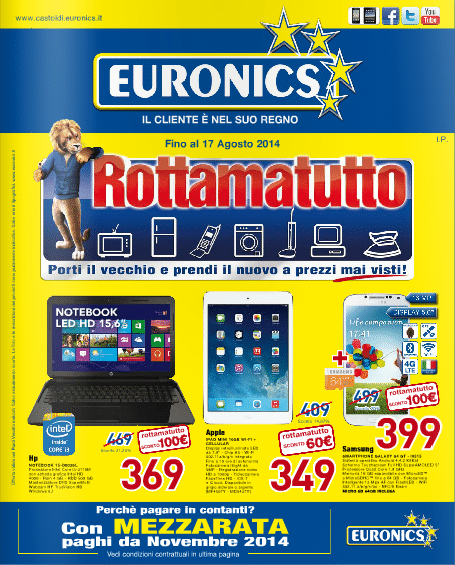 Volantino Euronics Agosto 2014